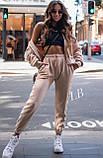 Спортивные штаны женские флисовые чёрный, бежевый, 42-44, 46-48, фото 3