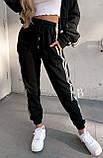 Спортивные штаны женские флисовые чёрный, бежевый, 42-44, 46-48, фото 6