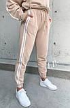 Спортивные штаны женские флисовые чёрный, бежевый, 42-44, 46-48, фото 2