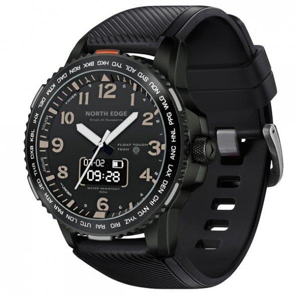 Часы North Edge Float 5 bar Black