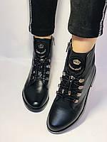 Жіночі черевики. На середньому каблуці. Натуральна шкіра.Висока якість. Erisses. Р. 38,40.Vellena, фото 3