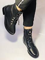 Жіночі черевики. На середньому каблуці. Натуральна шкіра.Висока якість. Erisses. Р. 38,40.Vellena, фото 4