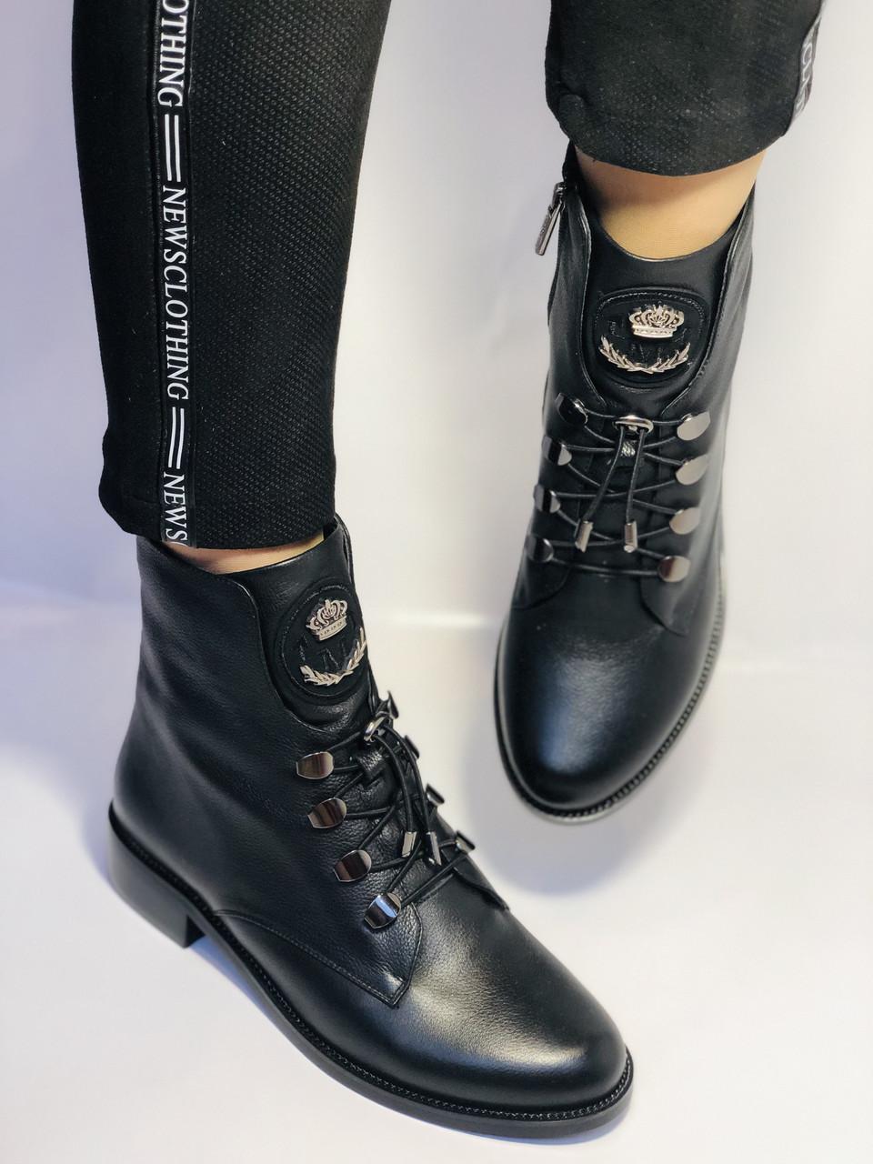 Жіночі черевики. На середньому каблуці. Натуральна шкіра.Висока якість. Erisses. Р. 38,40.Vellena