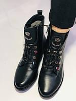Жіночі черевики. На середньому каблуці. Натуральна шкіра.Висока якість. Erisses. Р. 38,40.Vellena, фото 10