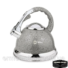 Чайник гранітний ZP-021 | Чорний | Сірий