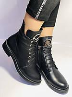 Жіночі осінні черевики на низькому каблуці. Натуральна шкіра.Туреччина. Alvito. р. 36-40. Vellena, фото 3