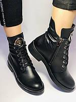 Жіночі осінні черевики на низькому каблуці. Натуральна шкіра.Туреччина. Alvito. р. 36-40. Vellena, фото 4