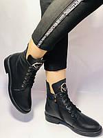 Жіночі осінні черевики на низькому каблуці. Натуральна шкіра.Туреччина. Alvito. р. 36-40. Vellena, фото 8