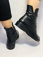 Жіночі осінні черевики на низькому каблуці. Натуральна шкіра.Туреччина. Alvito. р. 36-40. Vellena, фото 10