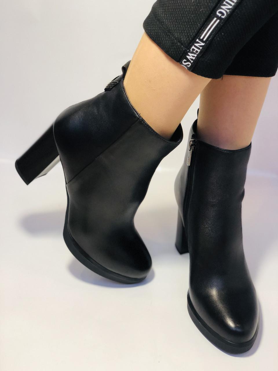 Женские модельные ботинки на каблуке. Натуральная кожа. Люкс качество. Erisses. Р. 35.36.37.38.40.Vellena