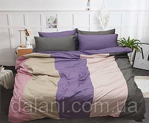 Евро комплект постельного белья Color mix из сатина