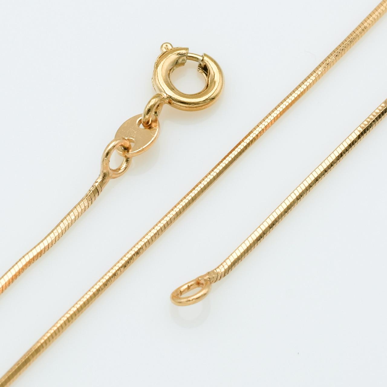 XUPING Цепочка Позолота 18к плетение квадратный ювелирный шнур, Длина 45см, Ширина 0.1см