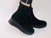 Натуральный мех. Люкс качество. Женские зимние ботинки. Натуральная замша. Berkonty. Р.37-39, фото 5