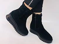 Натуральный мех. Люкс качество. Женские зимние ботинки. Натуральная замша. Berkonty. Р.37-39, фото 3