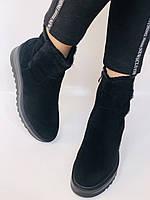 Натуральный мех. Люкс качество. Женские зимние ботинки. Натуральная замша. Berkonty. Р.37-39, фото 7