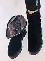 Натуральный мех. Люкс качество. Женские зимние ботинки. Натуральная замша. Berkonty. Р.37-39, фото 4