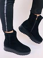 Натуральный мех. Люкс качество. Женские зимние ботинки. Натуральная замша. Berkonty. Р.37-39, фото 9
