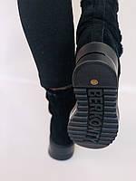 Натуральный мех. Люкс качество. Женские зимние ботинки. Натуральная замша. Berkonty. Р.37-39, фото 8