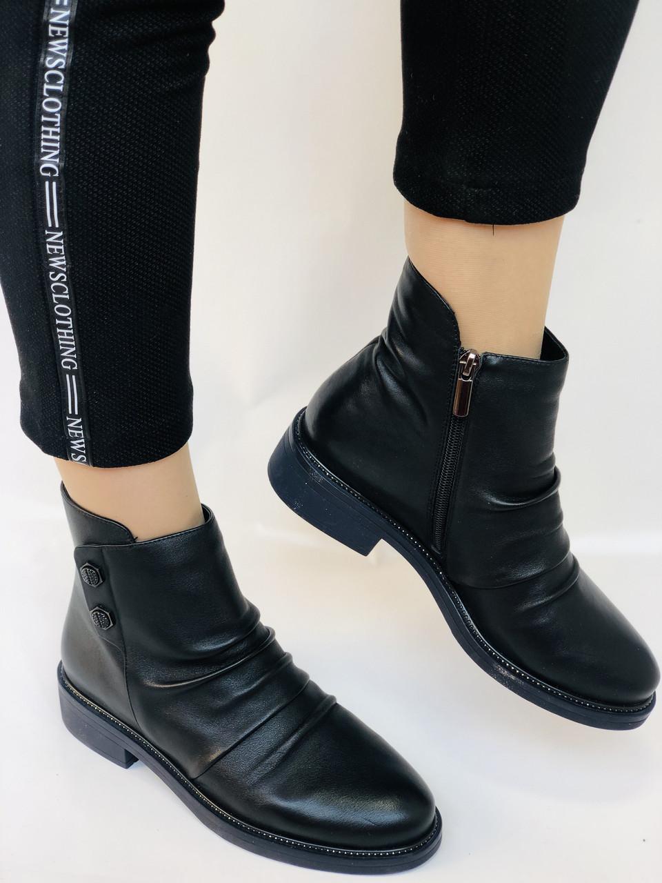 Женские ботинки. На маленьком каблуке. Натуральная кожа. Высокое качество. Molka.  Р. 35, 36, 39.40. Vellena
