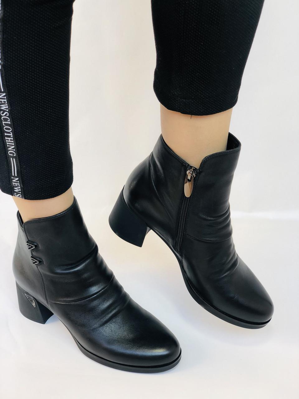 Жіночі черевики. На середньому каблуці. Натуральна шкіра. Люкс якість. Polann. Р. 36.37.40. Vellena