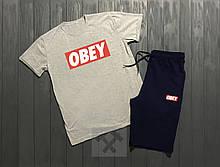 Мужская футболка и шорты Обей, трикотажная