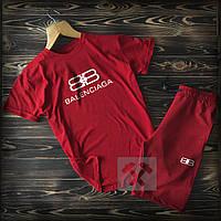 Мужская футболка и шорты Баленсиага, трикотажная