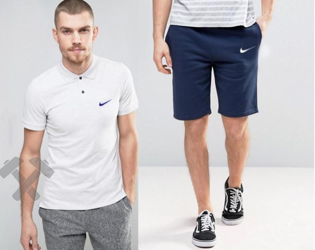 Мужская тениска поло Найк, мужская футболка и шорты Nike
