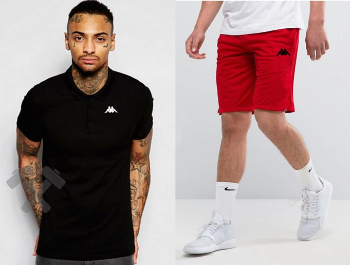 Мужская тениска поло Каппа, мужская футболка и шорты Kappa