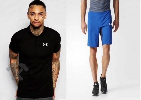 Мужская тениска поло Андер Армор, мужская футболка и шорты Under Armour
