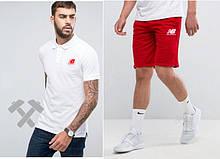 Мужская тениска поло Нью Беланс, мужская футболка и шорты New Balance