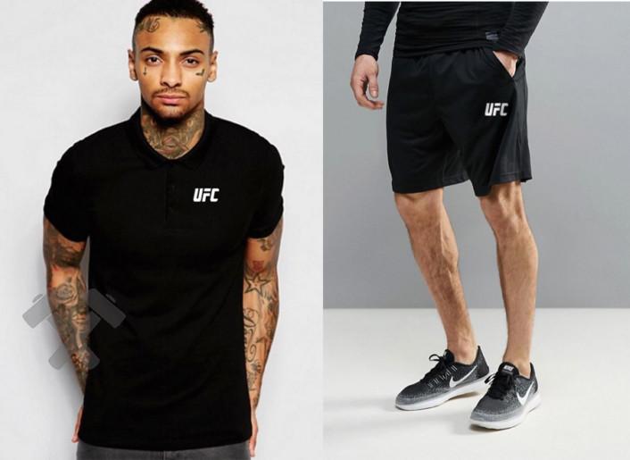 Мужская тениска поло ЮФС, мужская футболка и шорты UFC