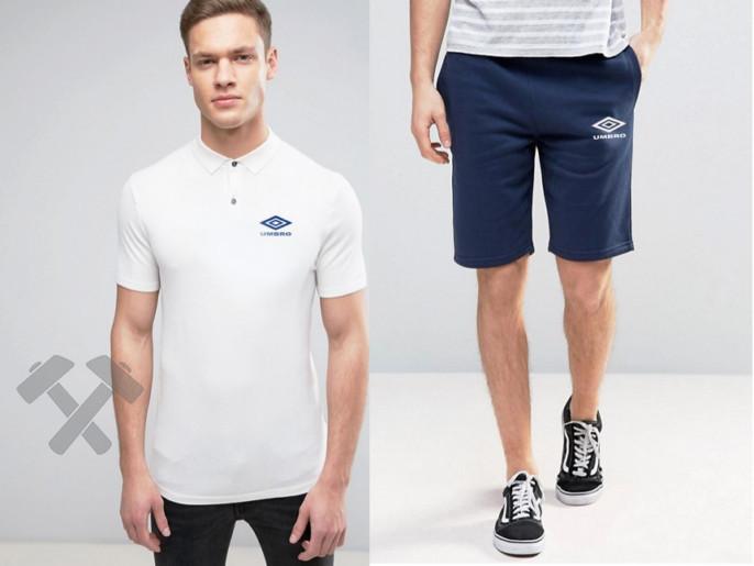 Мужская тениска поло Умбро, мужская футболка и шорты Umbro