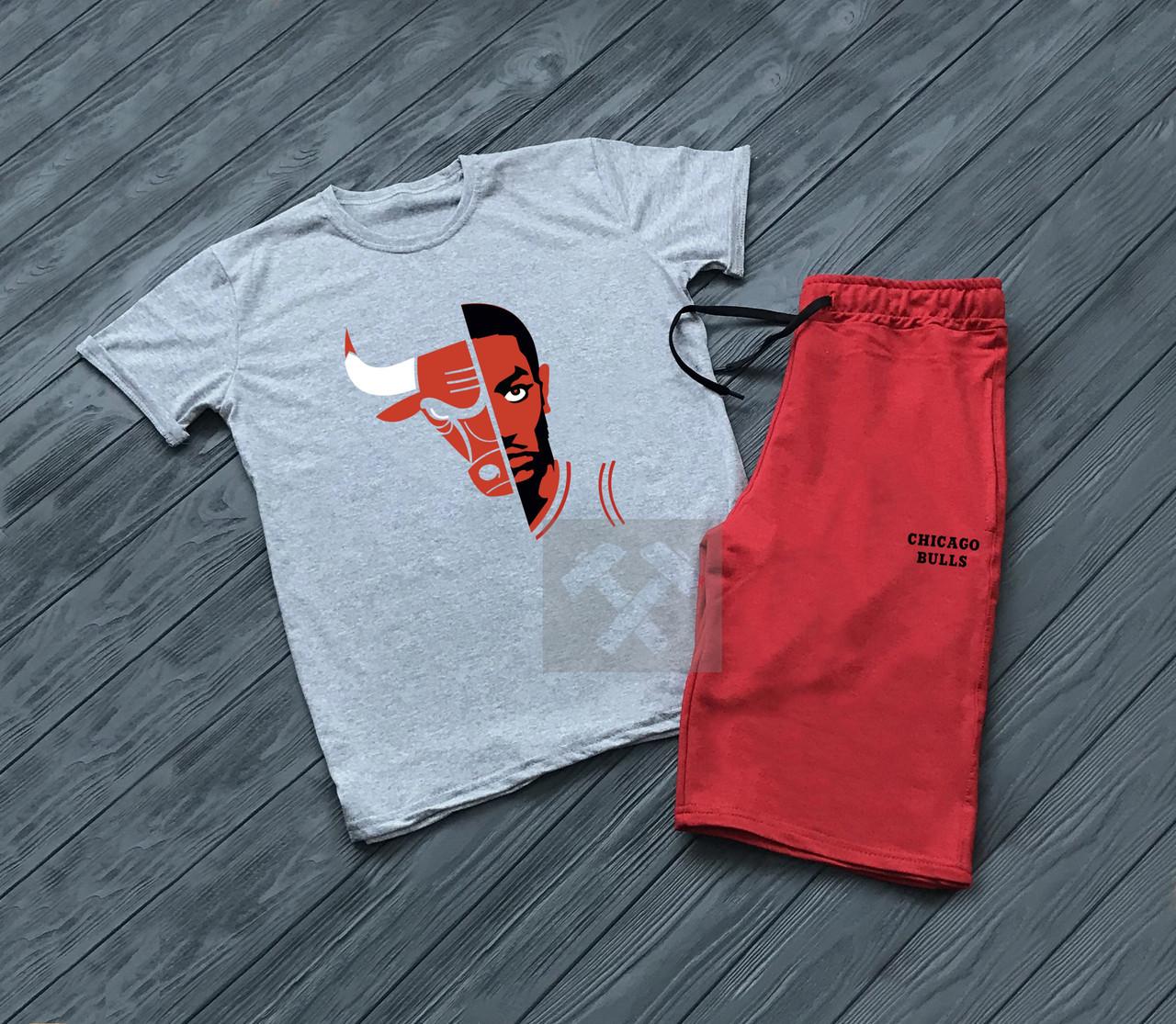 Мужская футболка и шорты Чикаго, трикотажная