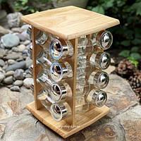 Набор для специй на деревянной подставке Stenson MS-0376 16шт/наб