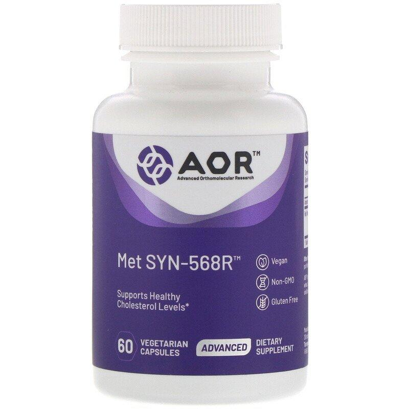 Advanced Orthomolecular Research AOR, Met SYN-568R, 60 растительных капсул