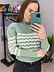 Женский полосатый свитер из вязки двухцветный (р. 42-44) 33dm954, фото 3