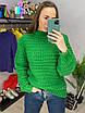 Женский нарядный свитер из крупной вязки, свободного фасона (р. 42-44) 33dm956, фото 2