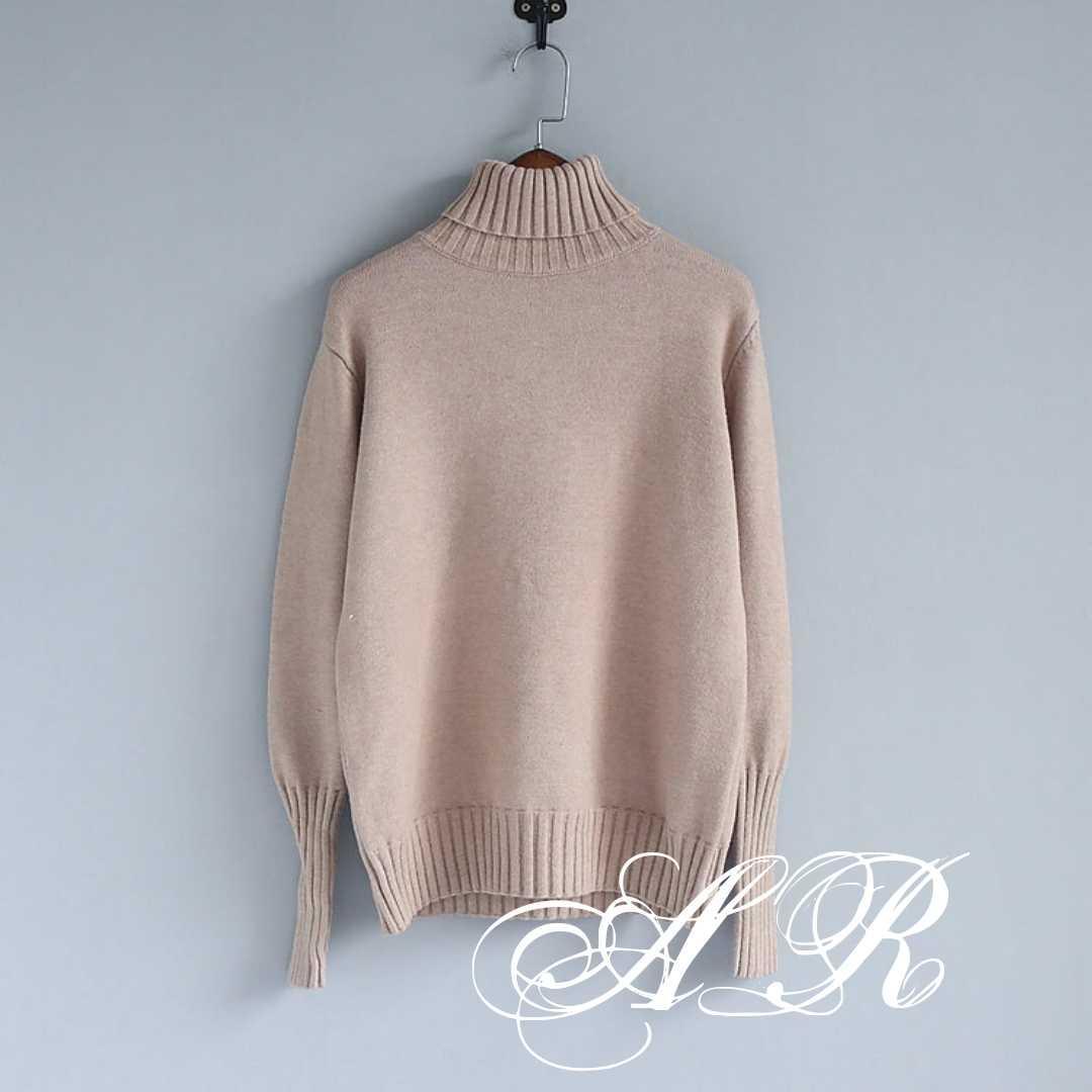 Женский теплый кашемировый свитер в высоким воротником и манжетами (р. 42-46) 79dm968