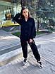 Костюм тройка из микровельвета с брюками, топом и рубашка с опущеным плечем (размеры 42-46) 17st1441, фото 9