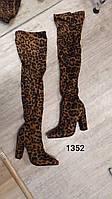Високі жіночі сапоги. Леопардові