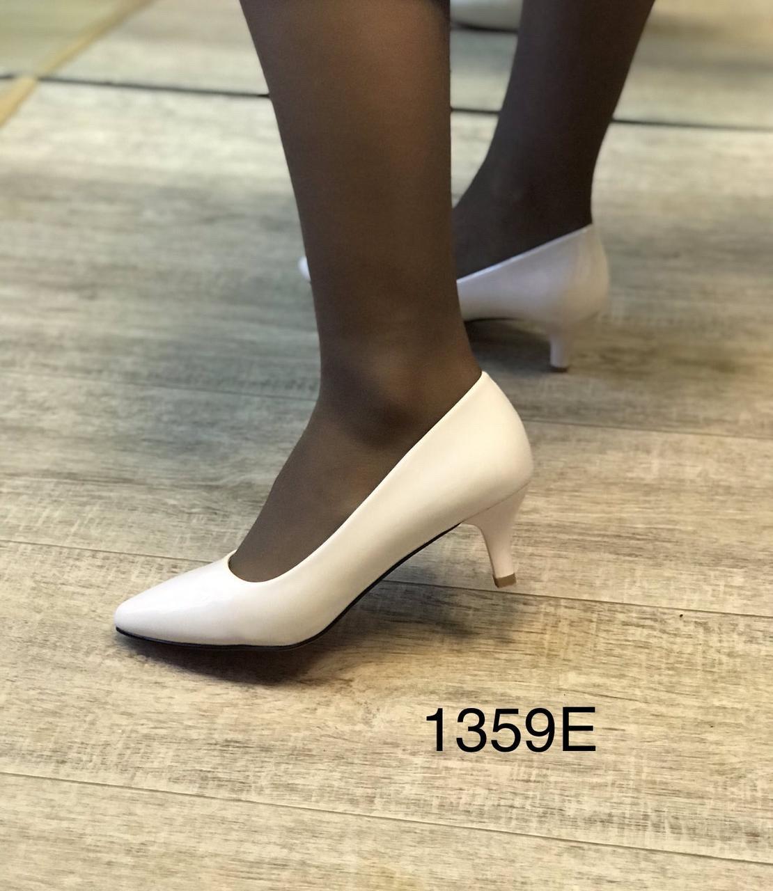 Жіночі туфлі,світлий беж каблук 6см