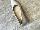 Жіночі туфлі,світлий беж каблук 6см, фото 8