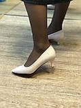 Жіночі туфлі,світлий беж каблук 6см, фото 5