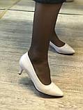 Жіночі туфлі,світлий беж каблук 6см, фото 7