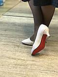 Жіночі туфлі,світлий беж каблук 6см, фото 3