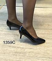 Женские туфли, черные,каблук 6см, фото 1