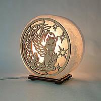 Солевая лампа Ангел на луне. Детские светильники и ночники
