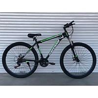 Спортивный велосипед 29 дюймов TopRider зеленый 903. Велосипед горный спортивный 29 ТопРайдер удобный качество