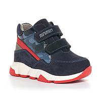 Детские демисезонные ботинки для мальчика, синие (23-720-42-20B-03), Мinimen (Минимен) 22 р. Синий