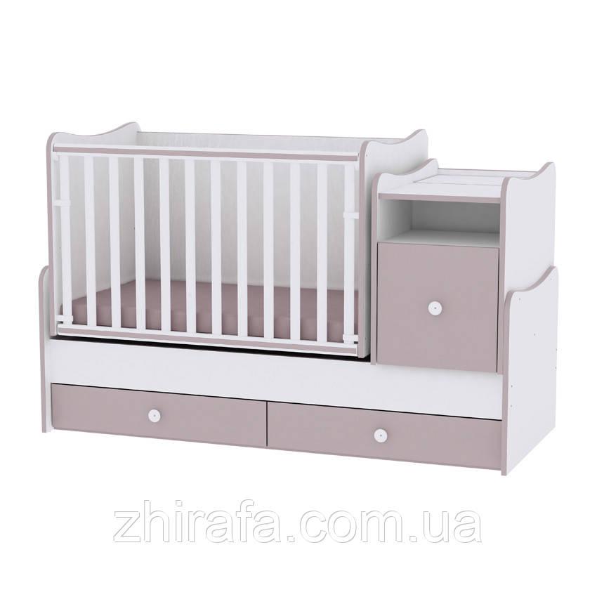 Детская кровать-трансформер 6 в 1 Trend White Cappuccino